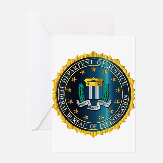 FBI Seal Mockup Greeting Cards