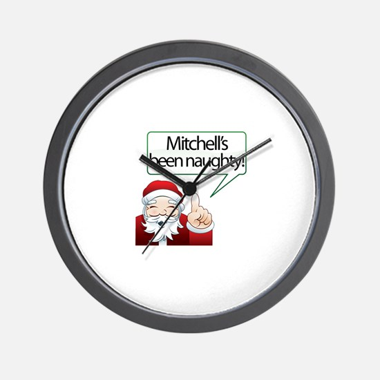 Mitchell 's Been Naughty Wall Clock
