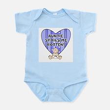 Auntie Spoils Me (white boy) Infant Bodysuit