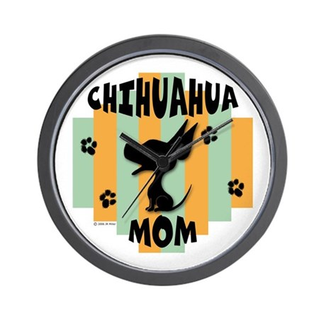 Chihuahua Mom Wall Clock