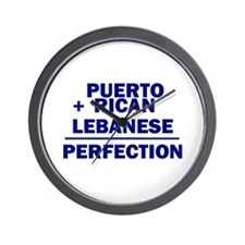 Puerto Rican + Lebanese Wall Clock