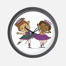 2 Ballerinas Wall Clock