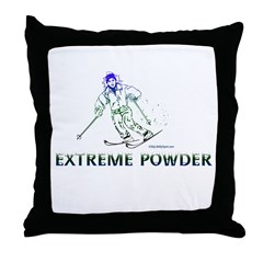 EXTREME POWDER Throw Pillow