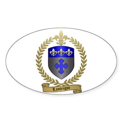 LANTEIGNE Family Crest Oval Decal