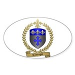 LANTEIGNE Family Crest Oval Sticker