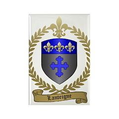 LANTEIGNE Family Crest Rectangle Magnet (100 pack)