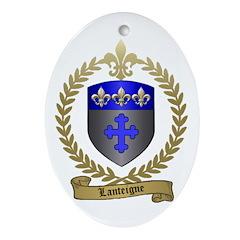 LANTEIGNE Family Crest Oval Ornament