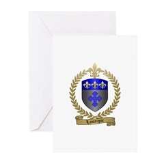 LANTEIGNE Family Crest Greeting Cards (Pk of 10)