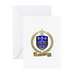 LANTEIGNE Family Crest Greeting Card
