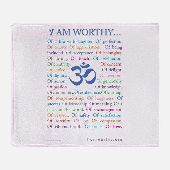 Om Affirmations Throw Blanket