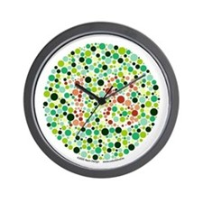 Color Blind Test Wall Clock