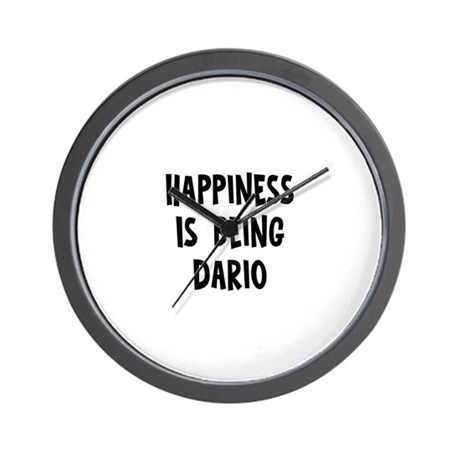 Happiness is being Dario Wall Clock