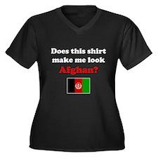 Make Me Look Afghan Women's Plus Size V-Neck Dark