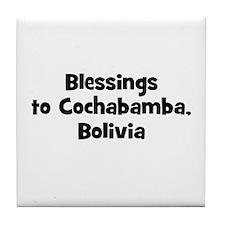 Blessings to Cochabamba, Boli Tile Coaster