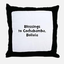 Blessings to Cochabamba, Boli Throw Pillow
