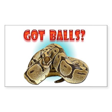 Python Snake - Got Balls Rectangle Sticker