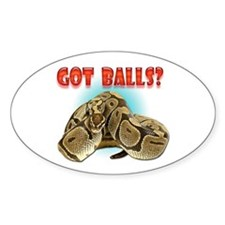 Python Snake - Got Balls Oval Decal