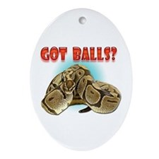 Python Snake - Got Balls Oval Ornament
