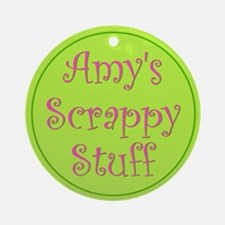 """Amy"" Tote Tag (Round)"