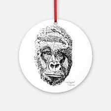 Gorilla by 1meps Round Ornament