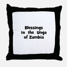 Blessings  to  the  Unga of Z Throw Pillow