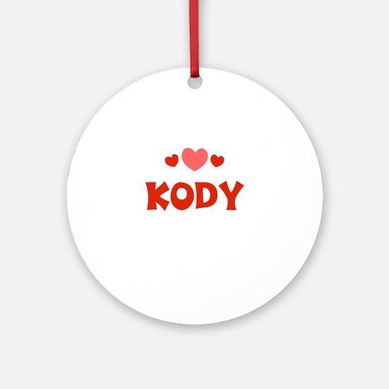 Kody Ornament (Round)