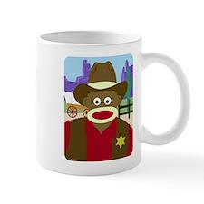 Sock Monkey Cowboy Sheriff Coffee Mug