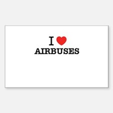 I Love AIRBUSES Decal