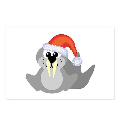 Cute Walrus Santa Claus Postcards (Package of 8)
