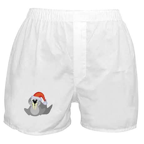 Cute Walrus Santa Claus Boxer Shorts