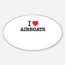 I Love AIRBOATS Decal