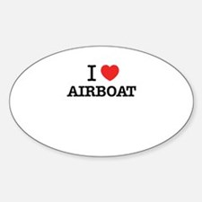 I Love AIRBOAT Decal