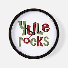 Yule Rocks Yulefest Pagan Holiday Wall Clock