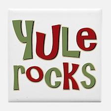 Yule Rocks Yulefest Pagan Holiday Tile Coaster