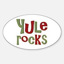 Yule Rocks Yulefest Pagan Holiday Oval Decal