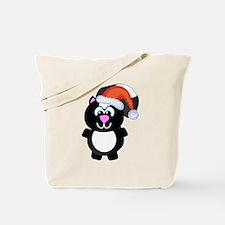 Cute Skunk Santa Claus Tote Bag
