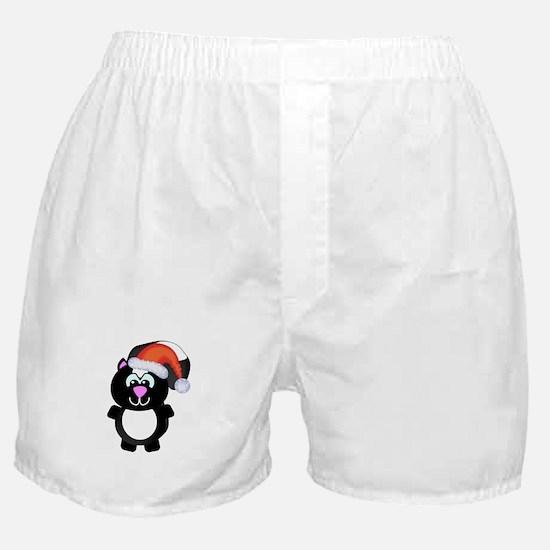 Cute Skunk Santa Claus Boxer Shorts