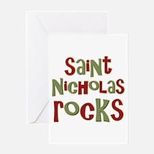 Saint Nicholas Rocks Greeting Card