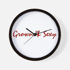 Grown & Sexy Wall Clock