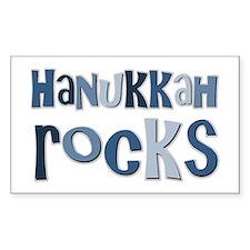Hanukkah Rocks Rectangle Decal
