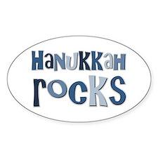 Hanukkah Rocks Oval Decal