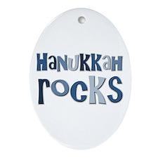 Hanukkah Rocks Oval Ornament