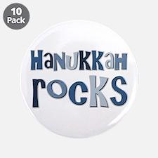 "Hanukkah Rocks 3.5"" Button (10 pack)"