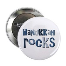 "Hanukkah Rocks 2.25"" Button (10 pack)"