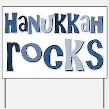 Hanukkah Rocks Yard Sign
