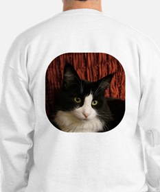 B&W Maine Coon Cat says Hello! Sweatshirt