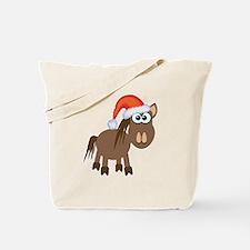 Cute Christmas Santa Pony/Horse Tote Bag