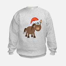 Cute Christmas Santa Pony/Horse Sweatshirt