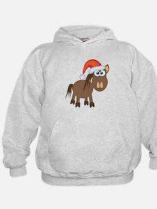 Cute Christmas Santa Pony/Horse Hoodie