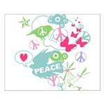 Modern Art Peace Collage Small Poster